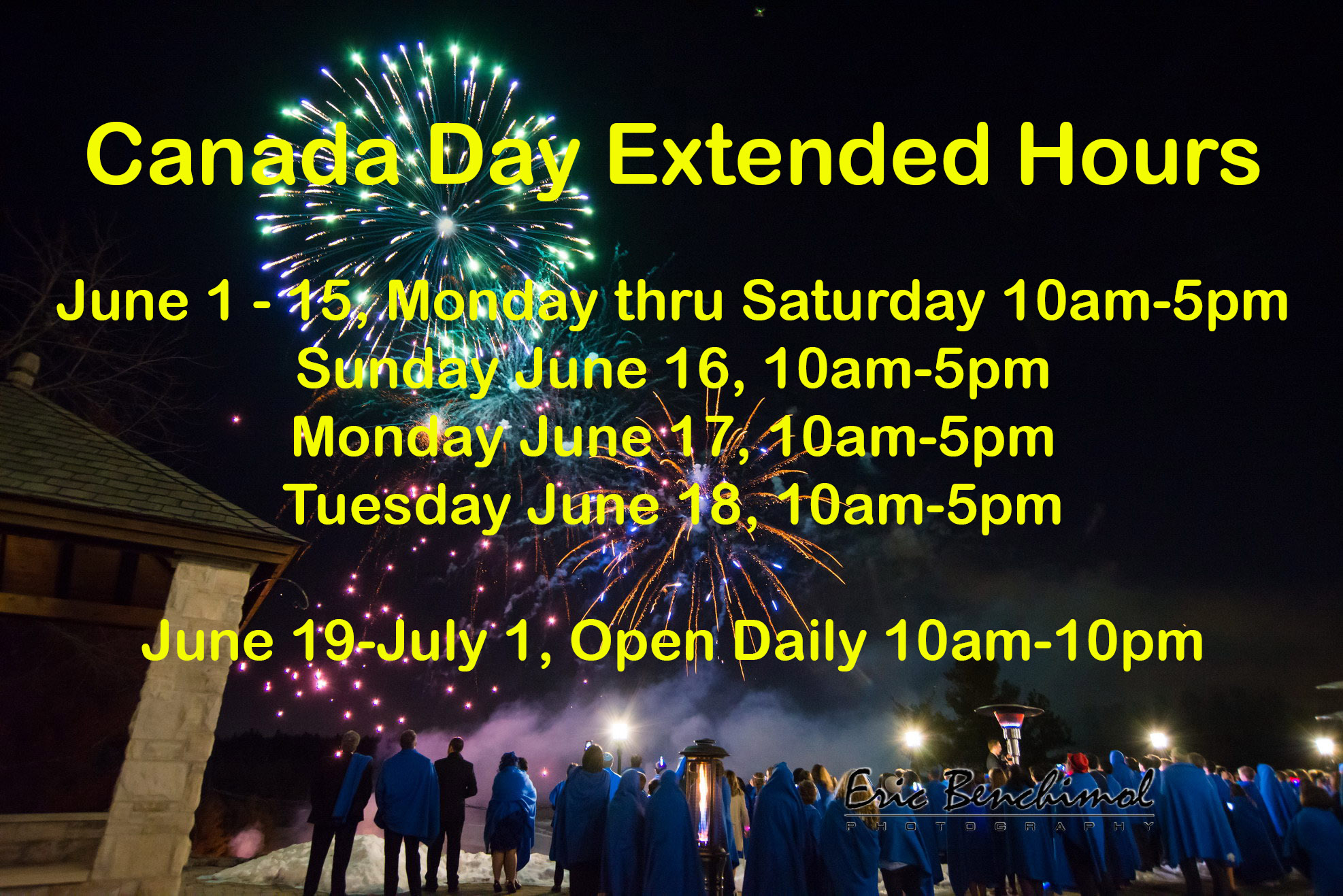Canada Day hours 2019